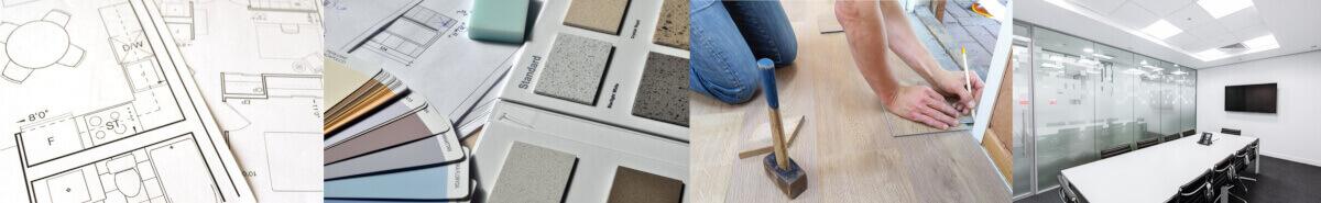 Büroeinrichtung von Biedersberger Bürotechnik GmbH - CAD-gestützte Flächen und Möblierungsplanung, visualisierte Darstellungsunterlagen, Farb- und                                 Materialcollagen für Wände, Boden, Möbel, Beleuchtung, Accessoires